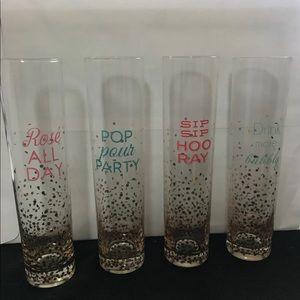Stemless Champagne Flutes Set of 4